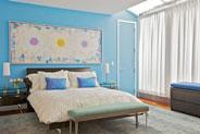 спальня по фэн шуй - дизайн в стихий Металла и Воды