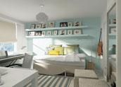 комната по фен шуй - дизайн в стихий Металла и Воды